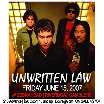 Unwritten Law cover